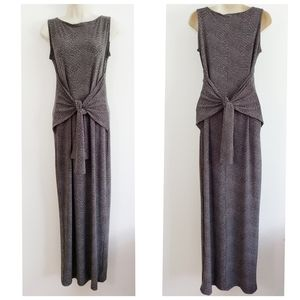Norma Kamali Dark Grey Snake Print Maxi Dress